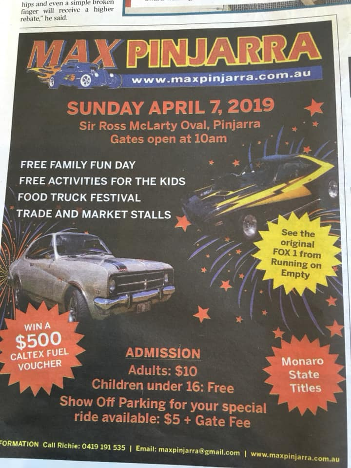 FOX1 will be at MAX Pinjarra - click it for more info